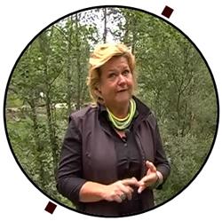 Ms. Anneli Näsvall at Jokkmokk Alpine Garden