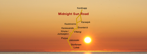 Midnight Sun Road Karasjok Saami Parliament