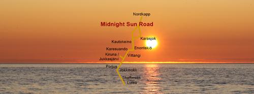 Midnight Sun Road Kautokeino Venor