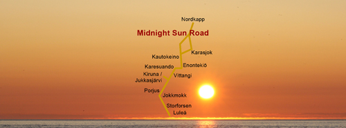 Midnight Sun Road - Porjus