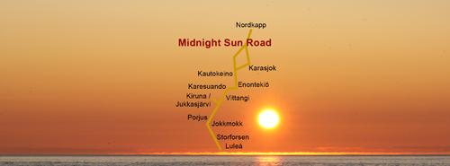 Midnight Sun Road - Porjus