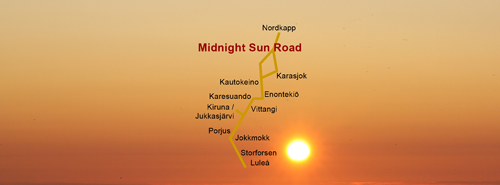 Midnight Sun Road - Storforsen