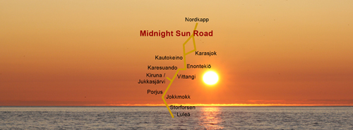 Midnight Sun Road - Vittangi Moose Park